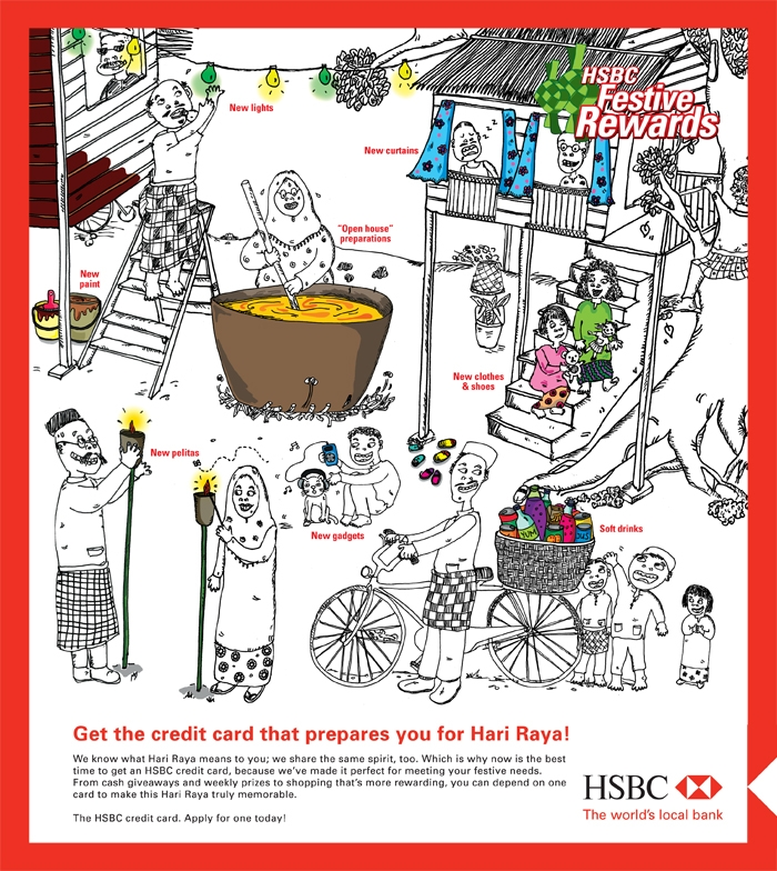 HSBC_print_ad_cartoon_mall_kampung