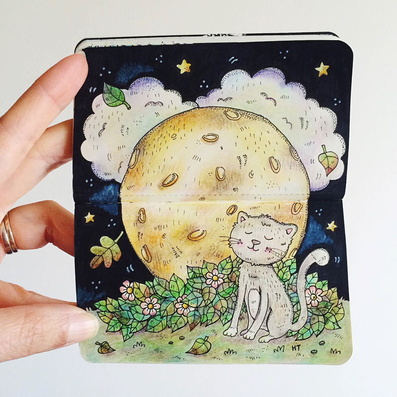 Perth_Illustrator_Moleskine_Art_Cat