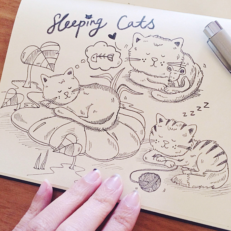 Perth_Illustrator_comics_sleeping_cats