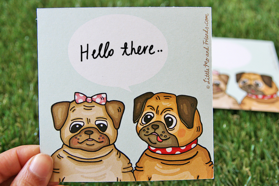 Little_Mo_and_Friends_perth_greeting_cards_pugs