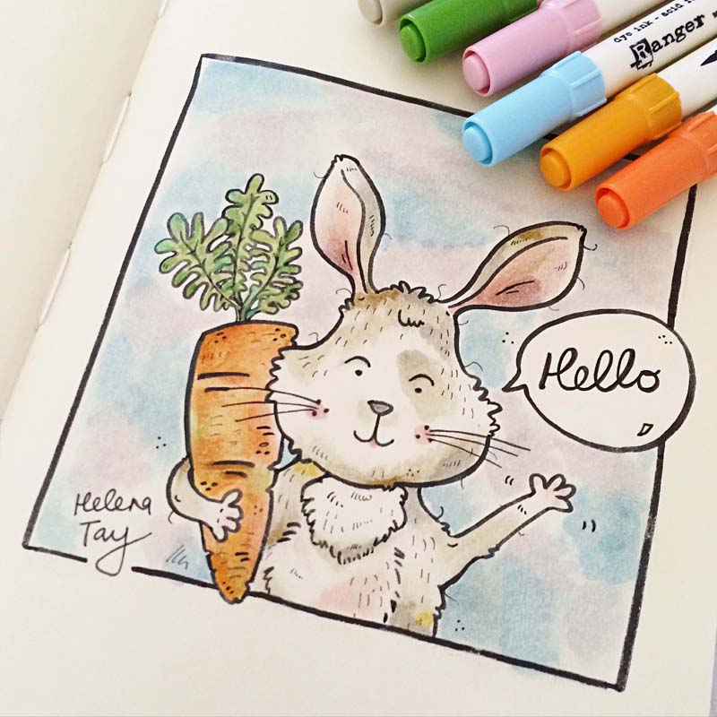 Perth_Illustration_Moleskine_Art_Rabbit