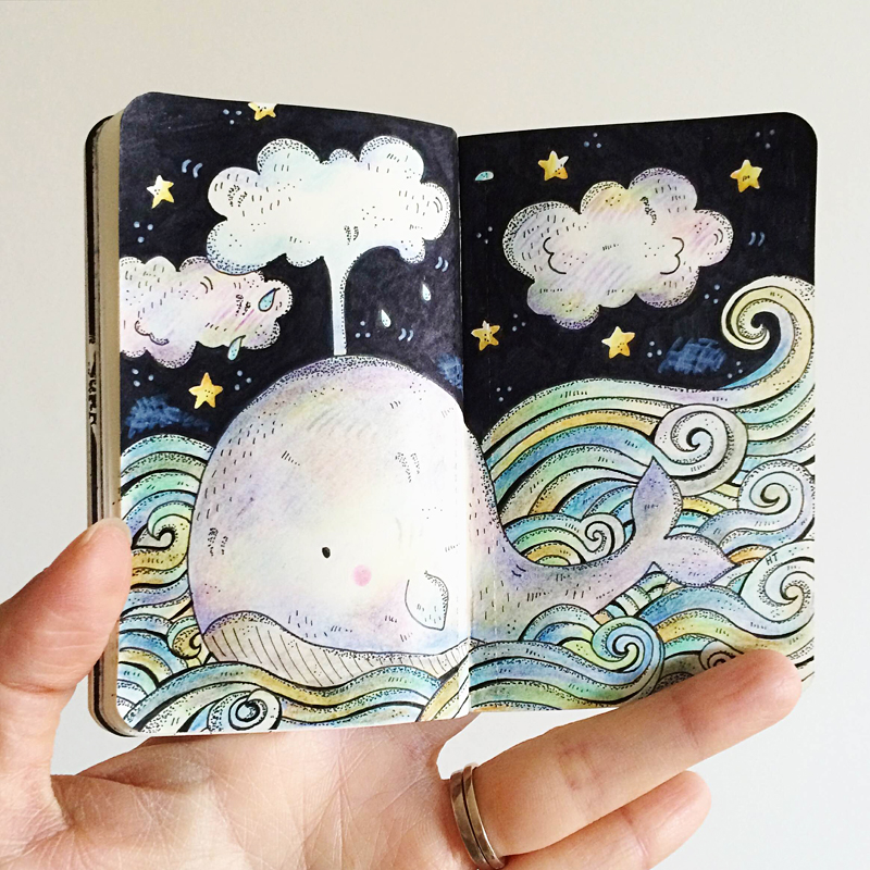 Perth_Illustrator_Moleskine_Art_Whale